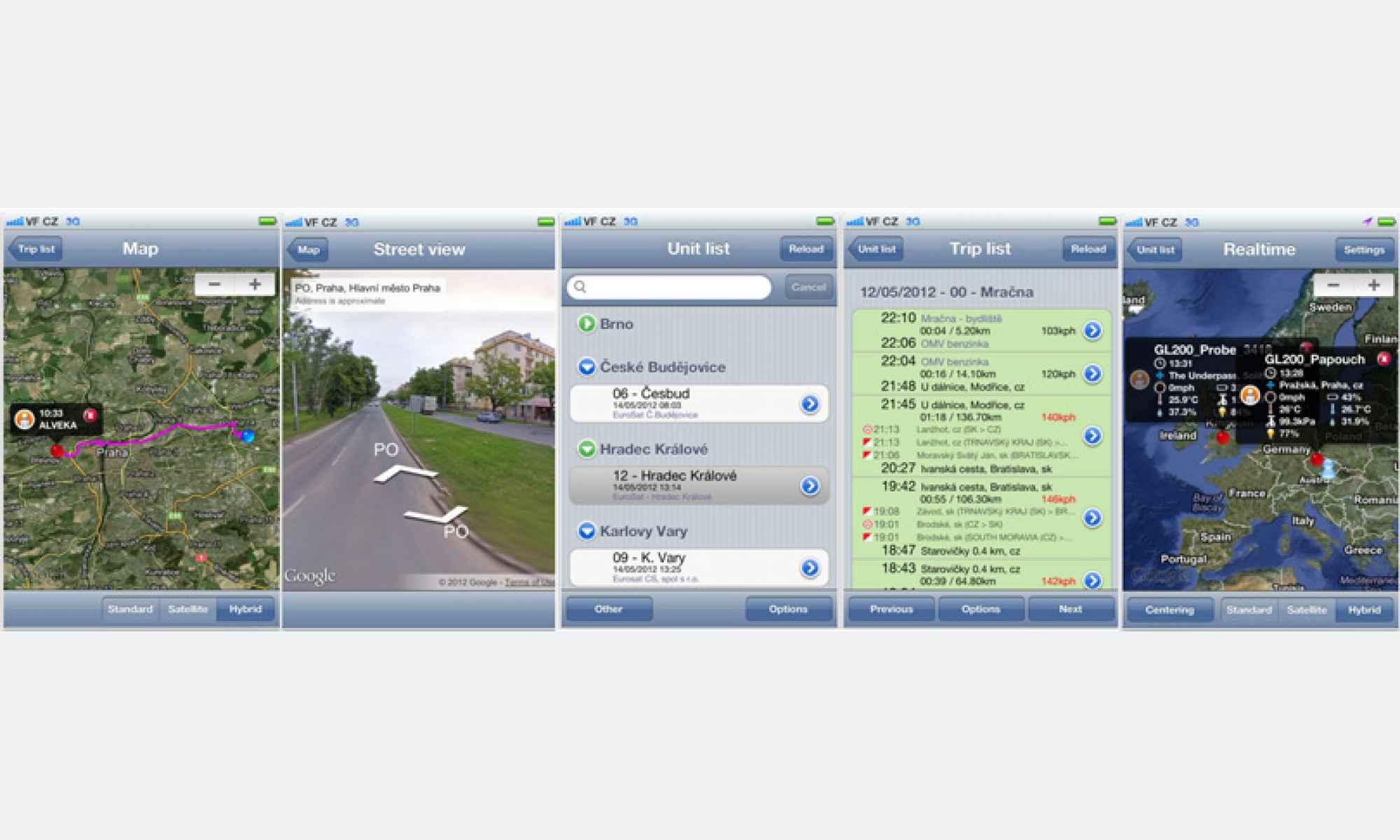 Ukázka mobilní aplikace pro iOS